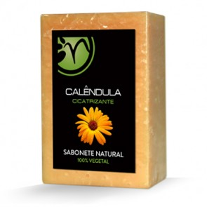 Sabonete 100% Vegetal de Calêndula - Cicatrizante