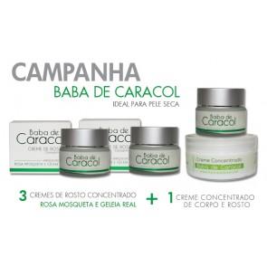 Campaña de Baba de Caracol con Rosa Mosqueta y Jalea Real
